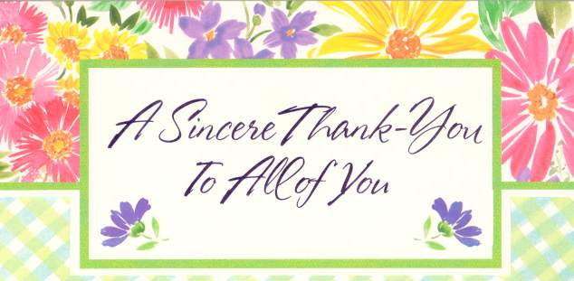 *~* Sincere Thanks *~* Thank_you_card
